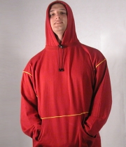 Sweatshirt with Hood and Draw Cord