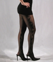 Women Luxury Patterned Tights Birds