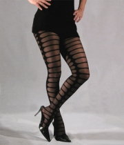 Women Figured Tights Zebra