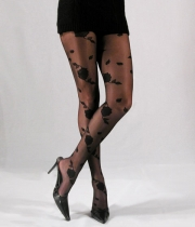 Women Figured Tights Rose