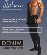 Opaque Mens Tights with Comfort band Denim 70Den