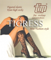 Figured Knee High Tights Tigress