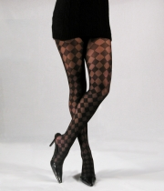 Women Patterned Tights Checkmate