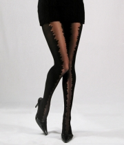 Women Luxury Patterned Tights Sunset