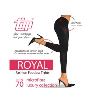 Luxury Figured Footless Tights Royal 70Den