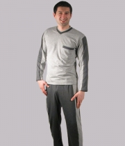 Wadded V-Neck Winter Pajama Rhino