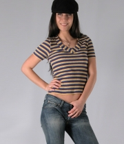 Women Blouse with stripes Alina
