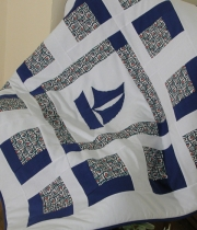Kids Patchwork Quilt Sailboat